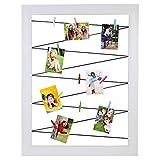 Polaroid Clothespin Rahmen für Fotoabzüge - Enthält 10 Clips in verschiedenen Farben - Weiß - Kompatibel mit HP Ritzel, Fuji Instax Mini 9, 26, 8, 7, LG, Prynt, LifePrint, Kodak Mini und Kodak Dock