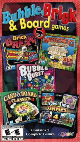 Classic Bubble, Brick & Board Games Bonus 5 Pack (Anglais Import)