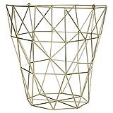 Premier Housewares Vertex, vergoldet, metall, gold, 31 x 31 x 31 cm