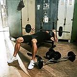 Gorilla Sports Hantelbank mit Gewichten - 8
