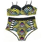 Tamgoo Donne Sexy Tankini Costume da Bagno Split a Vita Bassa Spiaggia Costumi da Bagno Bikini Impostare,Split Hard siviera Staffa di Acciaio, S