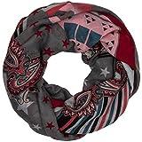 CASPAR Damen Loop / Schal / Schlauchschal mit Paisley- / Peace- / Sternen-Print - viele Farben - SC409, Farbe:grau;Größe:One Size