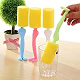 EQLEF® 2pcs Gentleman Forme long manche Bouteille Coupe du nettoyage en verre Brush Pour la maison Cuisine