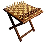 Craftsman Folding wooden Table Chess made of Sheesham wood. Si...