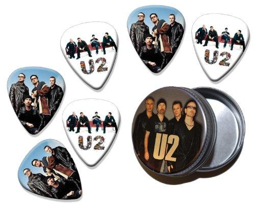 U2Bono Conjunto de 6doble cara Loose Guitarra Picks en Tin