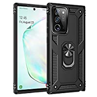 ‏‪AREDING Samsung Note 20 Ultra/Note 20 Ultra 5G Case, 360 Ring Holder Heavy Duty Hybrid Shockproof TPU Fits Magnetic Car Mount Protective Cover for Samsung Note 20 Ultra/Note 20 Ultra 5G (Black)‬‏