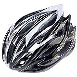 HK-Kensolng Venta Ligera para Hombre Bicicleta de Carretera Ciclismo Casco Montaña Casco Ciclismo Bicicleta MTB Bici Cascos Metal Silver White