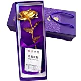 #10: Golden Rose Artificial Flower 24K gold With Loving Box Carry Bag best Valentine Day Gifts Rose Day Gifts Wedding Anniversary Rose Gift