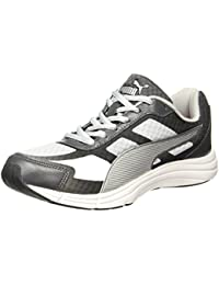 Puma Men's Expedite Idp Asphalt-Black-Red Blast-Silver Running Shoes