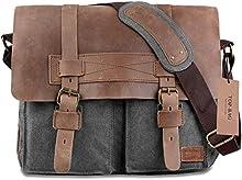 top-bag ® Nueva mochila de Piel Lienzo hombro Militar Crossbody Messenger Bag, mc2138K-5