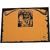 Bouchonnerie Jocondienne 336 Lot de 50 Étiquettes à Coller Bois Orange 11,5 x 18 x 0,5 cm