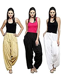 Mango People Products Combo Skin, Black & White Of 3 Womens & Girls Solid Cotton Mix Best Indian Ethnic Daily...