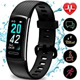 Updated 2019 Version Fitness Trackers HR, Activity Trackers Health Exercise Watch with Heart Rate and Sleep Monitor, Smart Band Calorie Counter, Step Counter, Pedometer Walking for Men Women and Kids