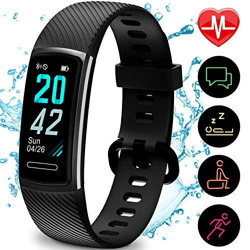 51KgzEc5h6L. SS500  - TEMINICE High-End Fitness Trackers HR, Activity Trackers Health Exercise Watch with Heart Rate and Sleep Monitor, Smart Band Calorie Counter, Step Counter, Pedometer Walking for Men & Women