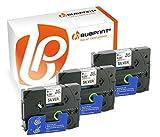 Bubprint 3 Schriftbänder kompatibel für Brother TZE-921 TZE 921 für P-Touch 1280 2430PC 2730VP 3600 9500PC 9700PC D400VP D600VP H100LB H105 P700 P750W