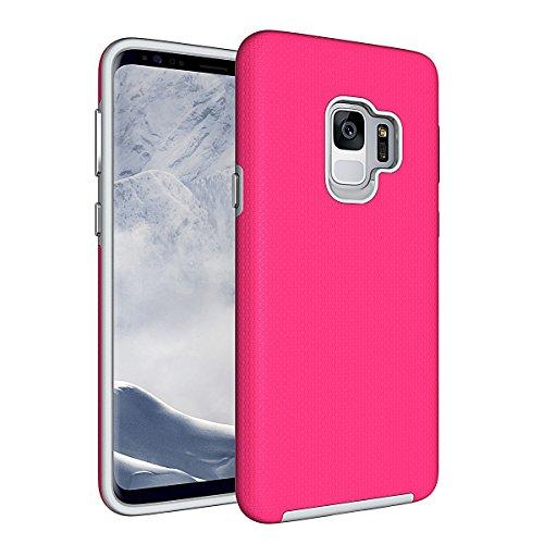 Slynmax Coque Samsung Galaxy S9 Rouge Coque Luxe Mode Housse TPU Slim Bumper Souple Silicone Etui Housse de Protection Soft Case Cas Couverture Anti Choc Mince Légère Coque pour Samsung Galaxy S9