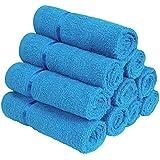 Story@Home 450 GSM Set of 10 pcs Cotton Face Towel Blue