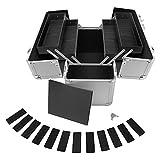 anndora® Werkzeugkoffer 24L Präsentationskoffer Etagenkoffer Silber + Schlüssel - 4