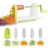 Gemüsehobel, Spiralschneider SimpleTaste mit 5 Schnell Auswechselbare Klingen, Gemüseschneider Für Früchten und Gemüse Spaghetti