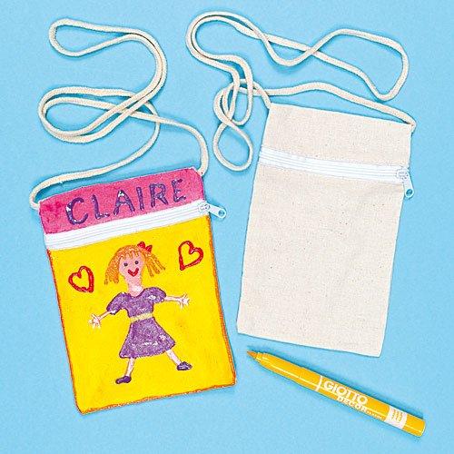 6 75 kleine schultertaschen aus stoff baumwolle fr kinder zum bemalen stoffbeutel als. Black Bedroom Furniture Sets. Home Design Ideas