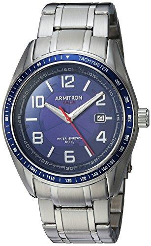 Armitron Men's Quartz Stainless Steel Dress Watch, Color:Silver-Toned (Model: 20/5252NVSV)