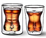 G-Hawk® Nackte Muskel Mann & Sexy Frauen Weinglas / Getränke Tasse / Cocktail Glas / Whisky Glas Valentinstag Spaß Cups Beauty Body Cup