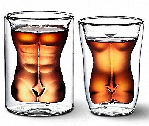 el Mann & Sexy Frauen Weinglas / Getränke Tasse / Cocktail Glas / Whisky Glas Valentinstag Spaß Cups Beauty Body Cup (Sexy Nähe)