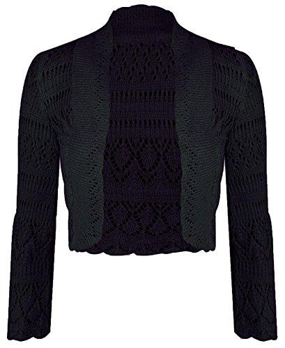 Damen Crochet Strick Langarm Boleroshrug (Langarm Crochet Achselzucken)