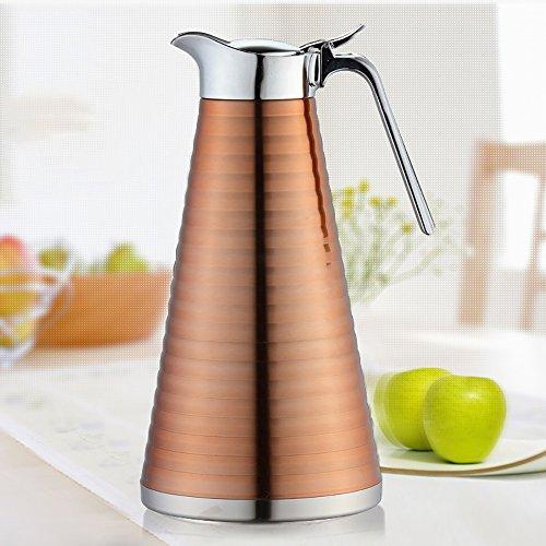QFFL Edelstahl-Isolierungs-Topf / Haushalts-große Kapazitäts-Isolierungs-Flasche / Antikorrosionswarmwasserflasche / Kessel 1.5L Thermosflasche ( Farbe : A )