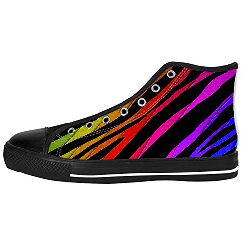 Dalliy zebra stripe Kids Canvas shoes Schuhe Lace-up High-top Footwear Sneakers D