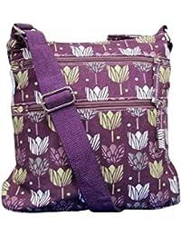 c26dfdd8a7 Purple Possum® Floral Bag Burgundy Tulip Flowers Across body Bag Ladies  Cotton Canvas Cross Body Tulips Crossbody Messenger…
