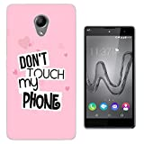 1208 - Pink Multi Love Heart Don't Touch My Phone Design