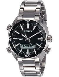 Citizen Analog-Digital Black Dial Men's Watch - JM5460-51E