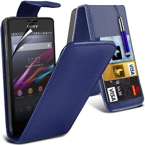 Sony Xperia E1 Custodia in pelle con protezione schermo & penna stilo da Spyrox, (E1 Ibrida)