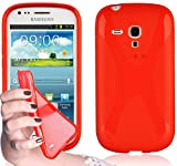 Cadorabo Silikon Hülle für Samsung Galaxy S3 MINI in Inferno Rot