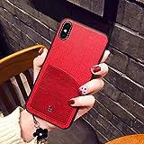 OCHENG Coque Mobile iPhone XS Max Coque IPhoneX Simple Coque de Protection Anti-Chute IPhoneXS pour Entreprise (Couleur : Rouge, Taille : Iphone X)