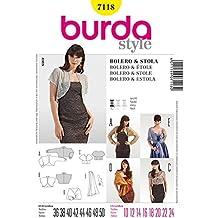 Burda Ladies Easy Sewing Pattern 7118 - Bolero, Jacket, Stole & Scarf Sizes: 10-24 by Burda
