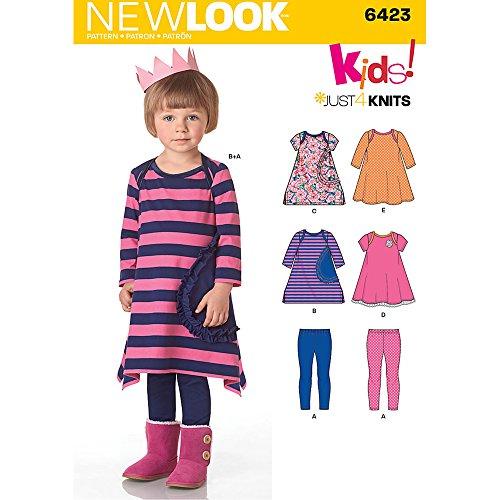 New Look Patrones Costura Vestidos Leggings Punto