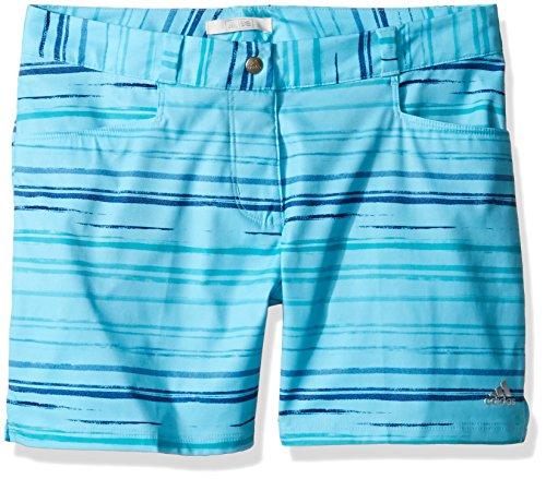 adidas Golf Mädchen Paint Stripe Shorts, Damen, Blau mit Glitzer