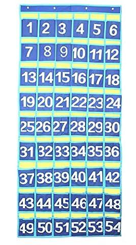 Numeriert Klassenzimmer Taschen-Diagramm für Handys Halter Wand-Tür hängen Organizer, 54 Taschen von Yier