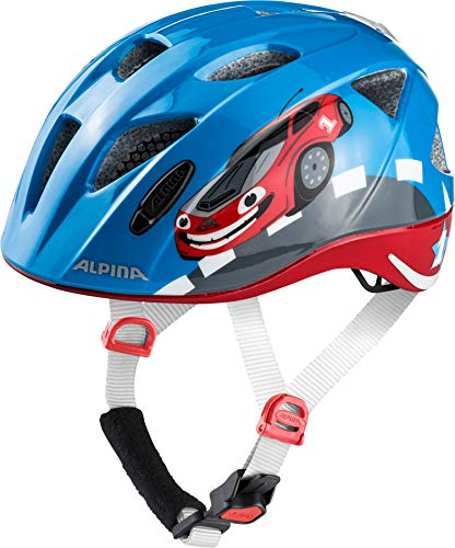 ALPINA Kinder Radhelm Ximo Flash Fahrradhelm, red car, 45-49 cm
