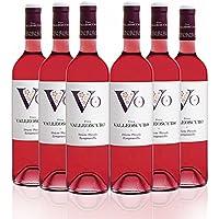 San Jamón Valleoscuro Vino Rosado Prieto Picudo Valles de Benavente - Paquete de 6 x 750 ml - Total: 4500 ml