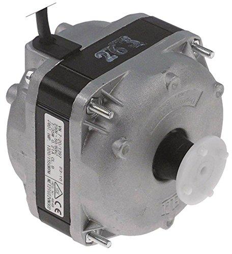 ELCO VN7-20/1397 Lüftermotor 230V 7W 1320/1550U/min 50/60Hz Anschluss Kabel 1500mm 3 Befestigungsoptionen Kabel 1,5m Kugellager