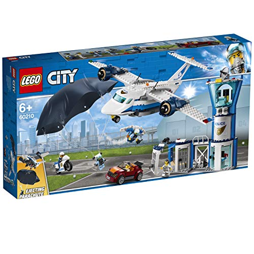 LEGO 60210 City Police Sky Police Air Base Playset, Police Station Plane Car and Parachute, Police Toys for Kids Best Price and Cheapest