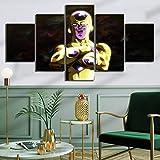 GTRB 5 Bilder auf Leinwand, Dekoration zu Hause, modular, 5-teilig, Prints Drache Bild, Leinwand, Wandbild, Kunstdrucke auf Leinwand
