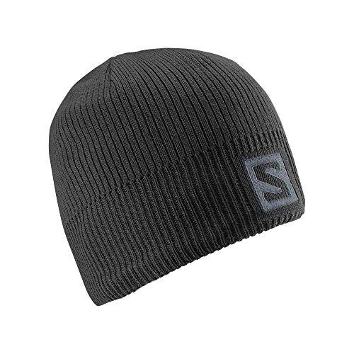 Salomon Winter hat, LOGO BEANIE, black, unisex, one size, l36685000