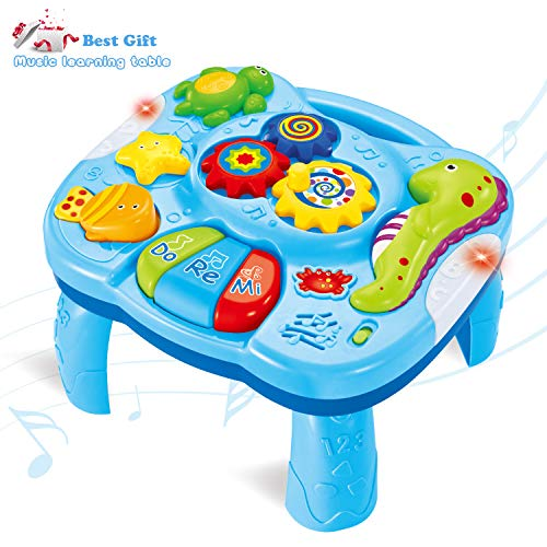 ACTRINIC Musical Learning Table Baby Toys 6 to12 Months Early Education Music Activity Center BEST Entertaining & Game Table Toddlers Toys for 1 2 3 Year Old - Song&Lighting&Sound (New Gifts to Your Babies)