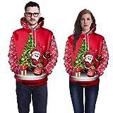 Geili Hoodie Herren Damen 3D Druck Sweatshirts Weihnachten mit Aufdruck Herbst Hemd Kapuzenpullover Langarm Top Jumper Shirt Pullover Liebhaber Weihnachten Halloween Kostüm
