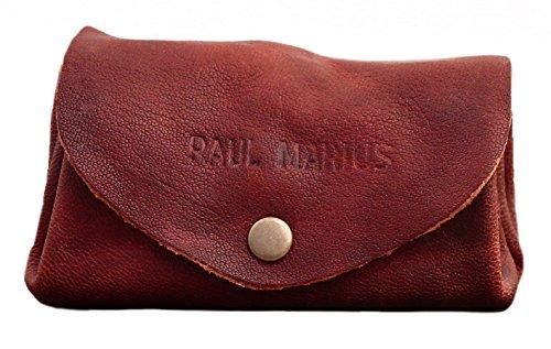 LE GUSTAVE Marrone oliato portafoglio in pelle stile monedero epoca PAUL MARIUS