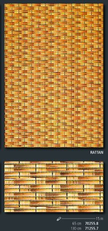 Bodenbelag Sympa Nova Premium Weichschaum Badematte Matte Rattan 130 breit Meterware